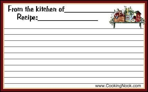 8 Best Images Of Printable Recipe Cards Whole Page Free