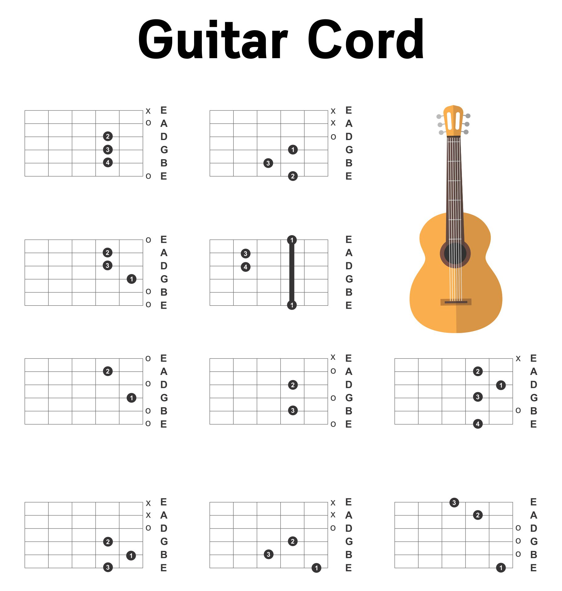 8 Best Images Of Printable Guitar Boxes