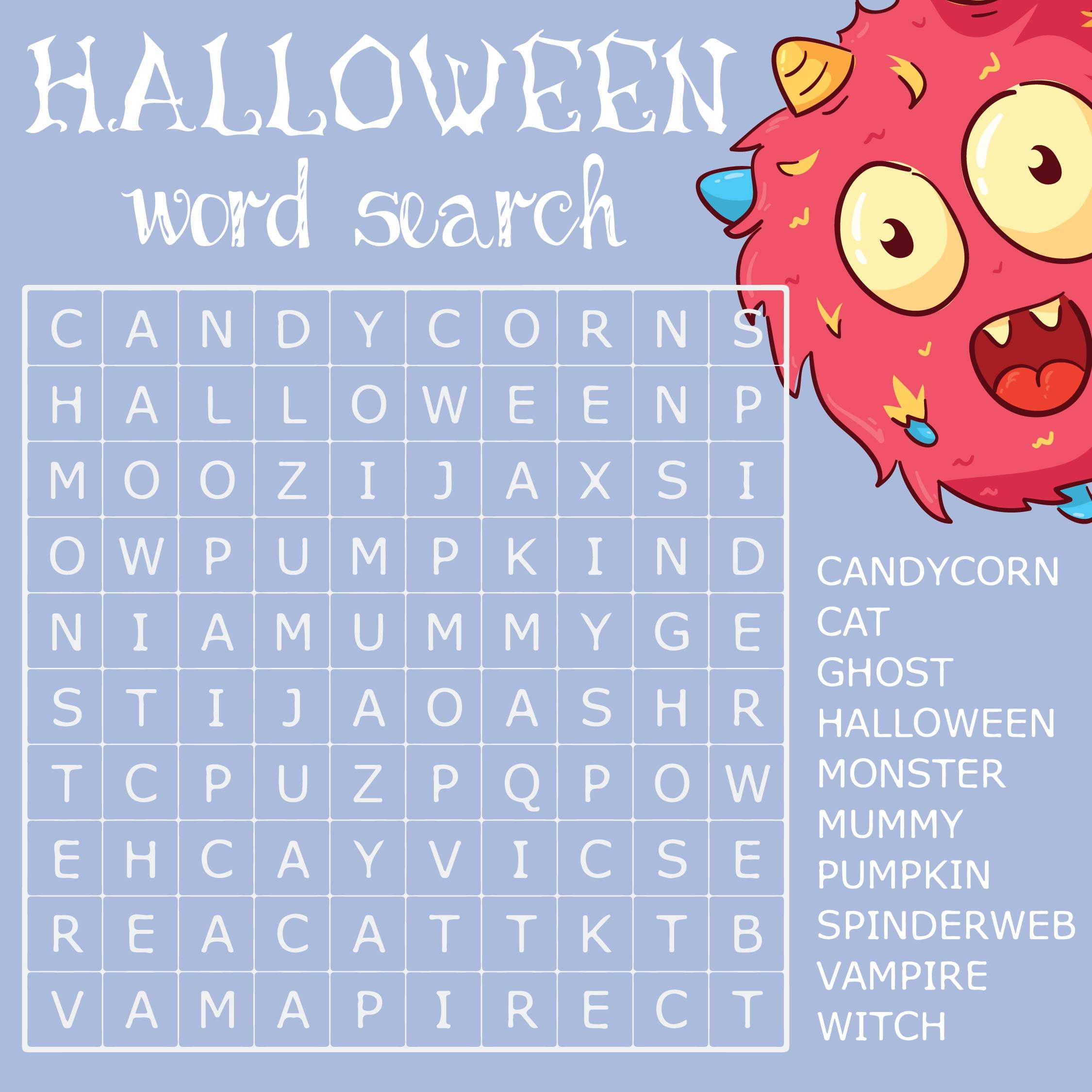6 Best Free Printable Halloween Word Games