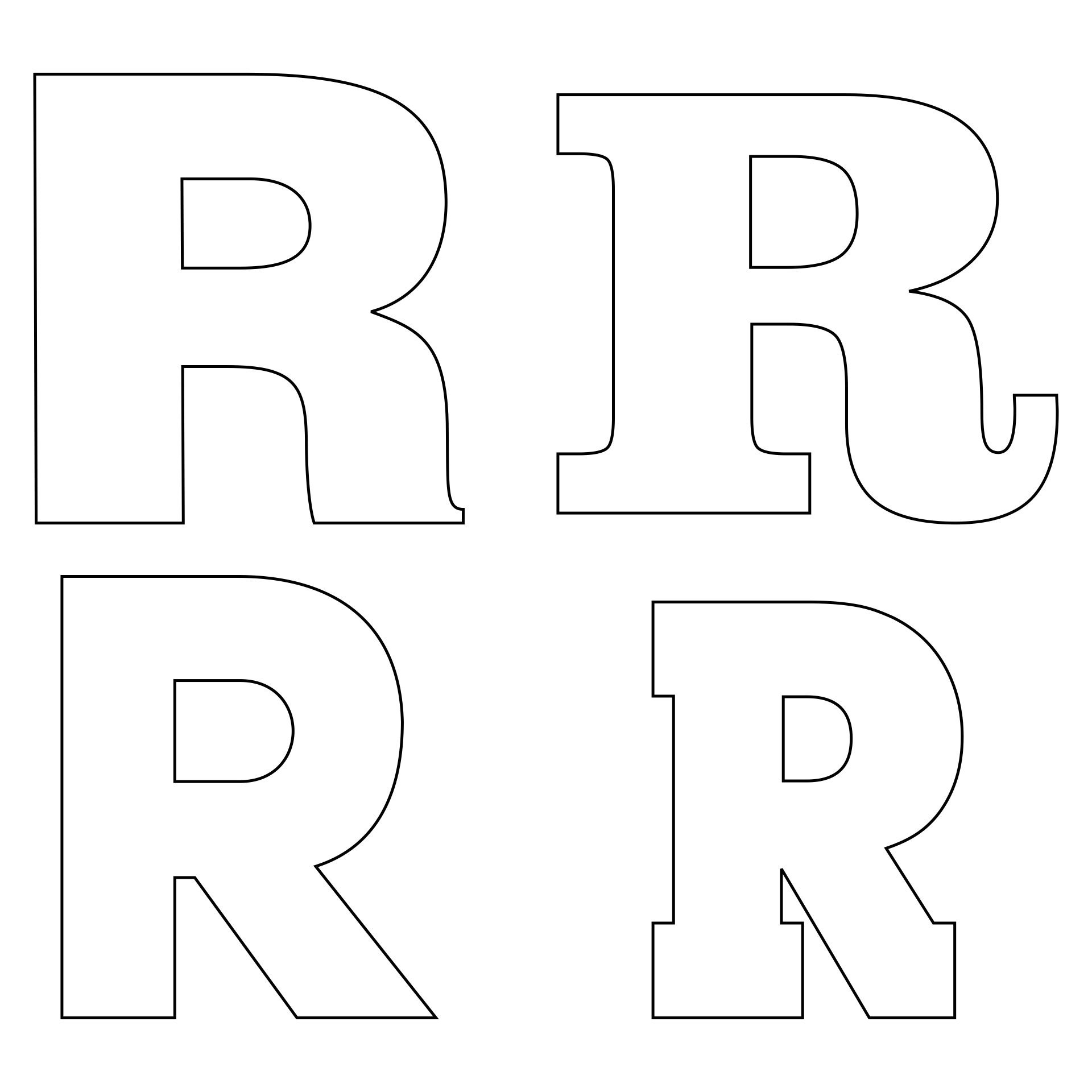 8 Best Letter R Template Printable