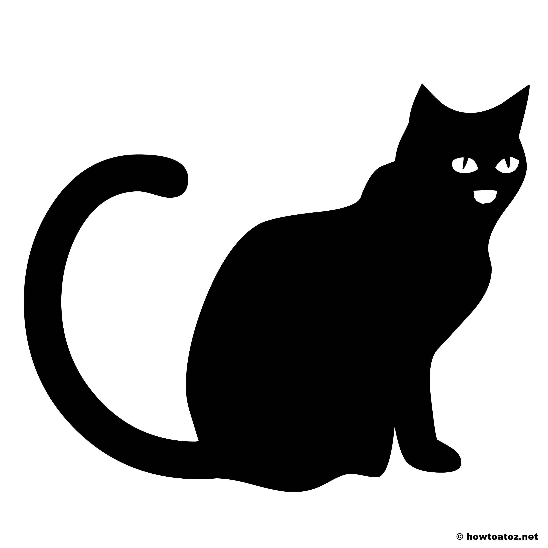 Best Images Of Halloween Cat Template Printable Black Cat Halloween Stencils And Printablee Com