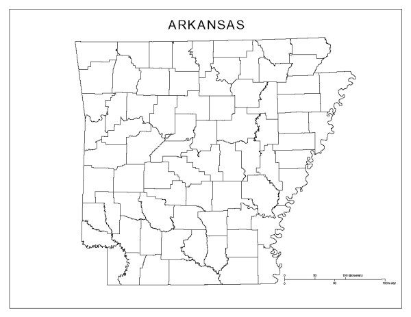 6 Best Images of Printable Map Of Arkansas Printable