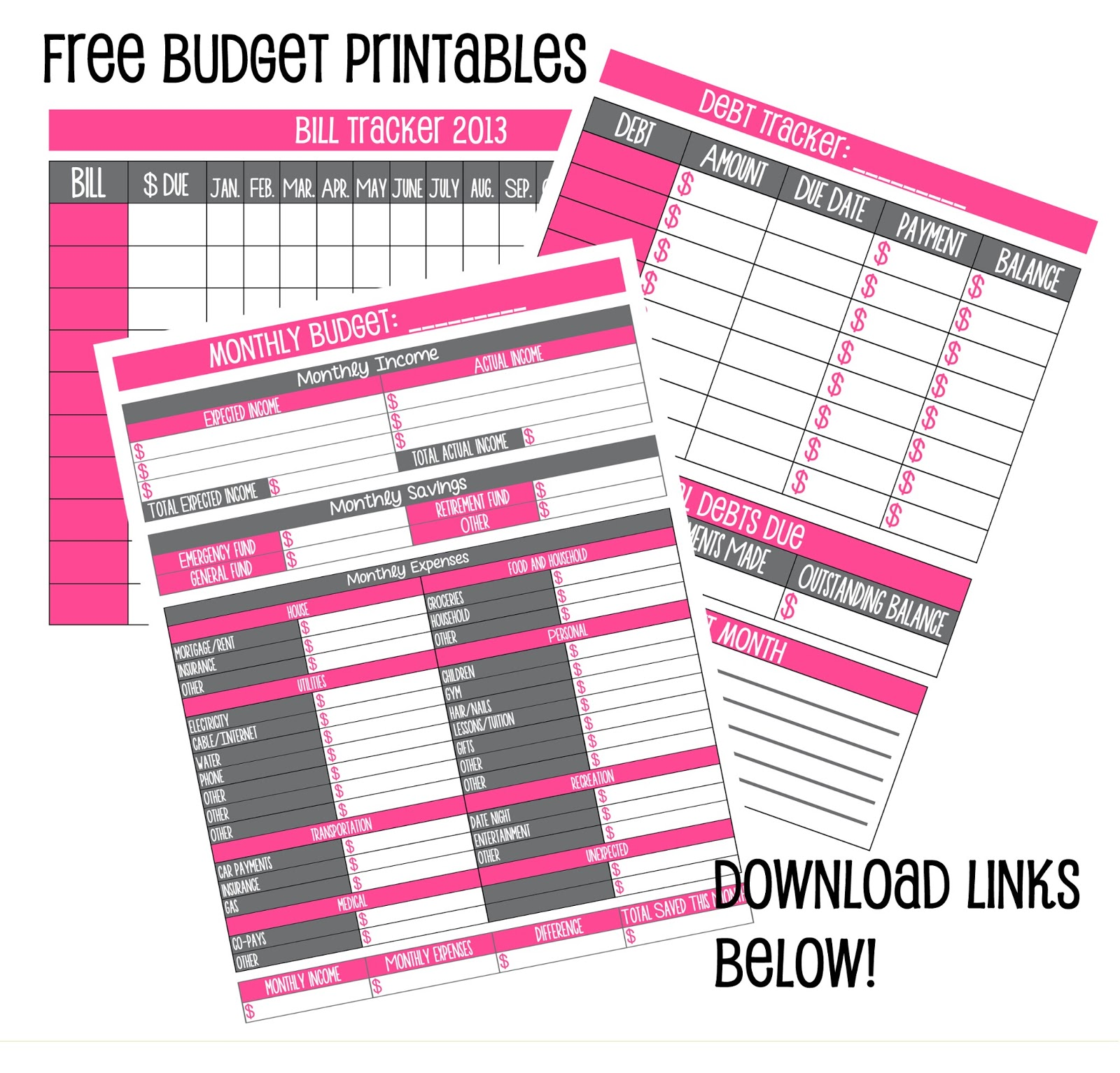 5 Best Images Of Cute Budget Printables