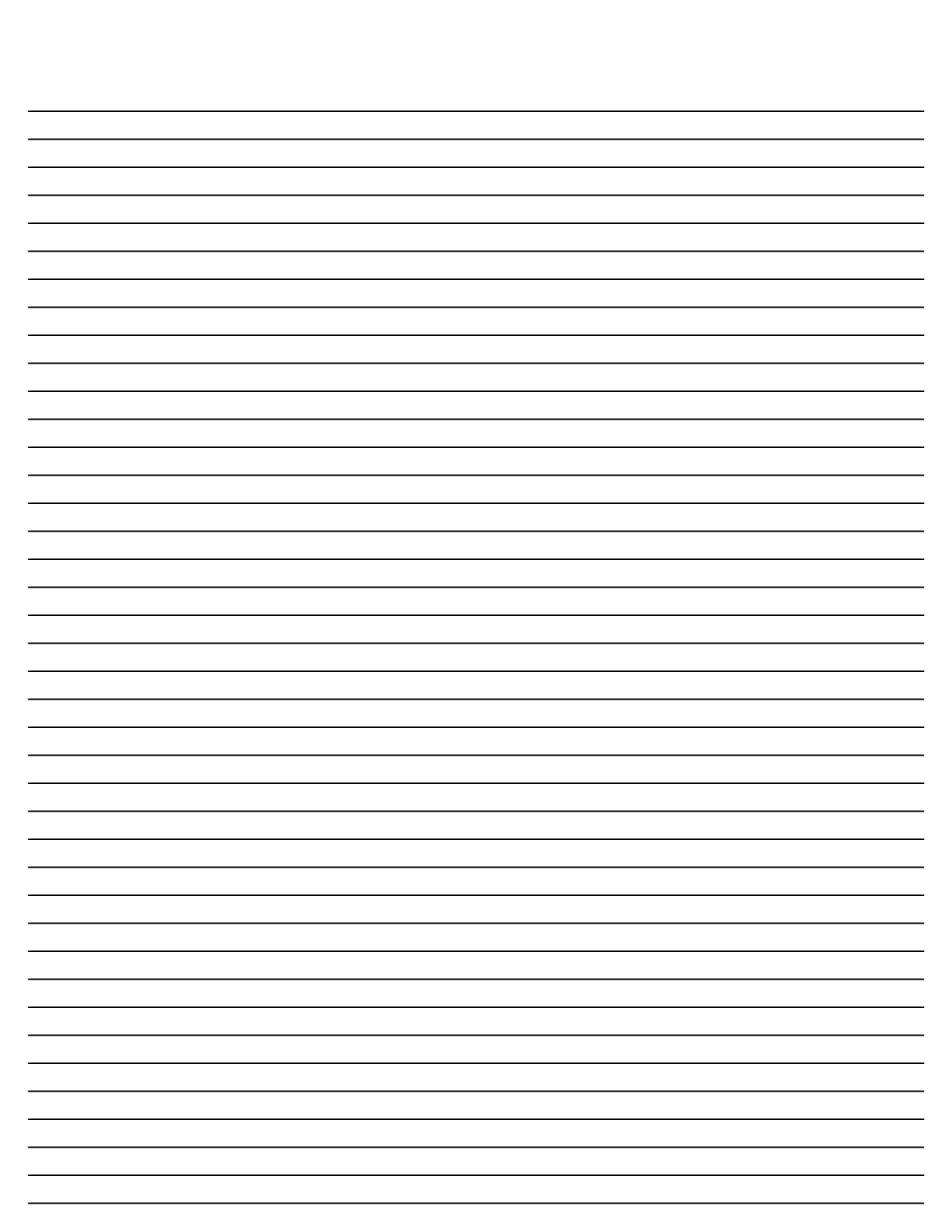 8 Best Printable Blank Lined Paper Template