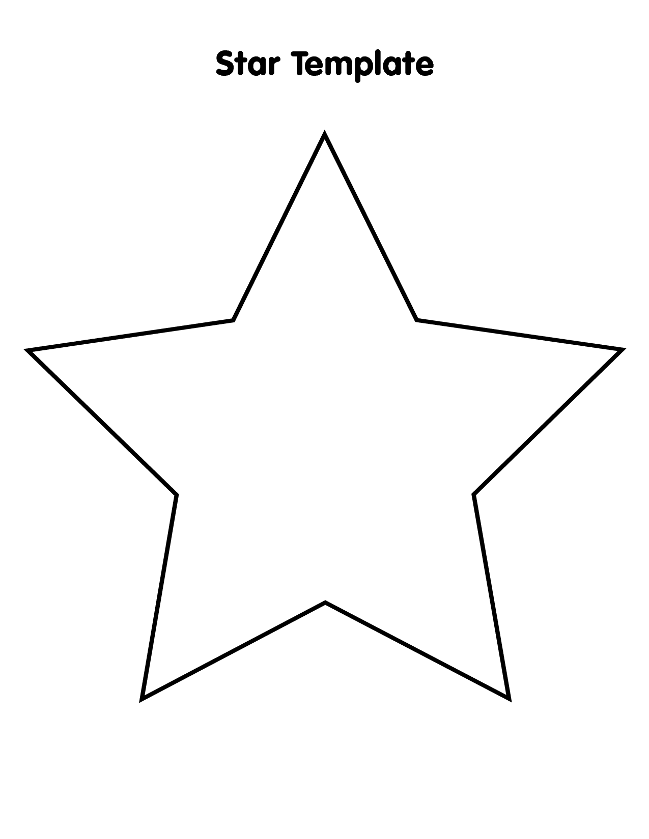 5 Best Images Of Large Star Stencil Printable