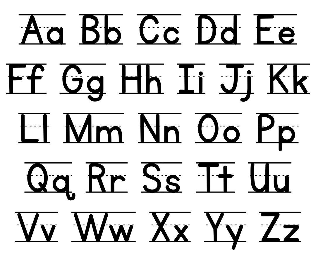 6 Best Images of Printable Manuscript Alphabet Chart