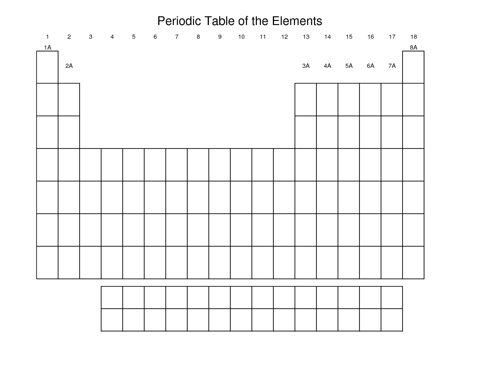 6 Best Images Of Printable Blank Periodic Table