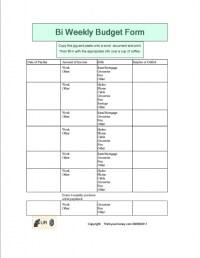 Printable Bi Weekly Budget Worksheet - budget worksheets ...