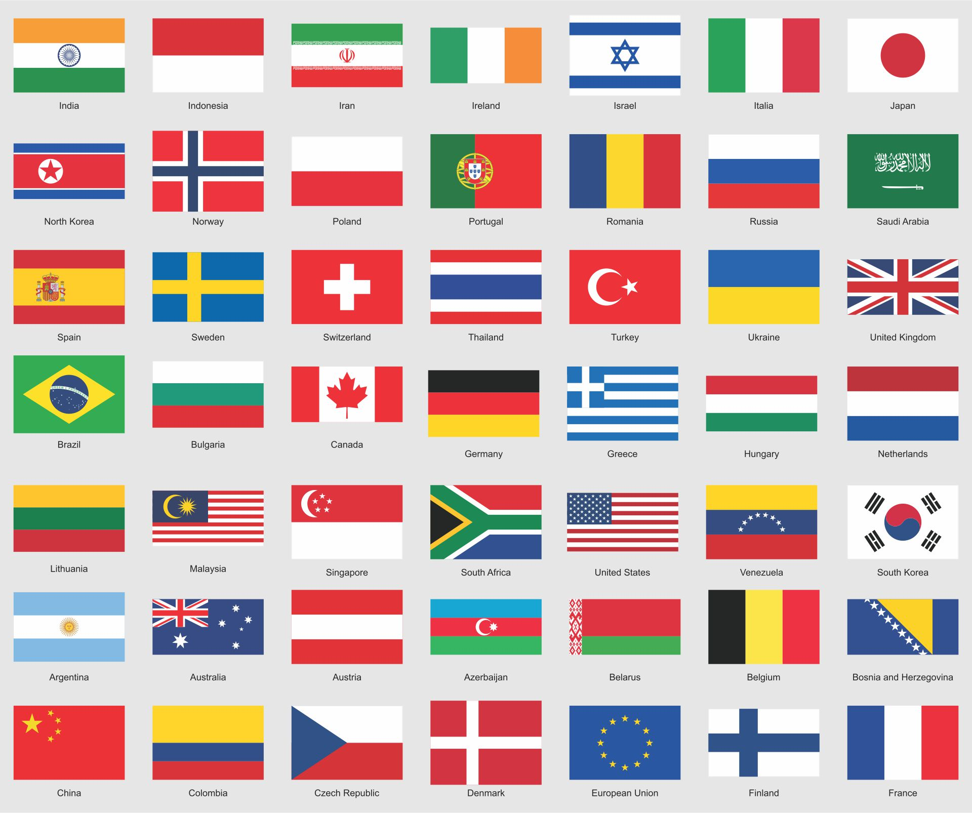 9 Best Images Of Printable Flags Of Different Countries