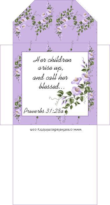Printable Scripture Tea Bag Envelopes