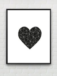 5 Best Images of Printable Black And White Wall Love ...