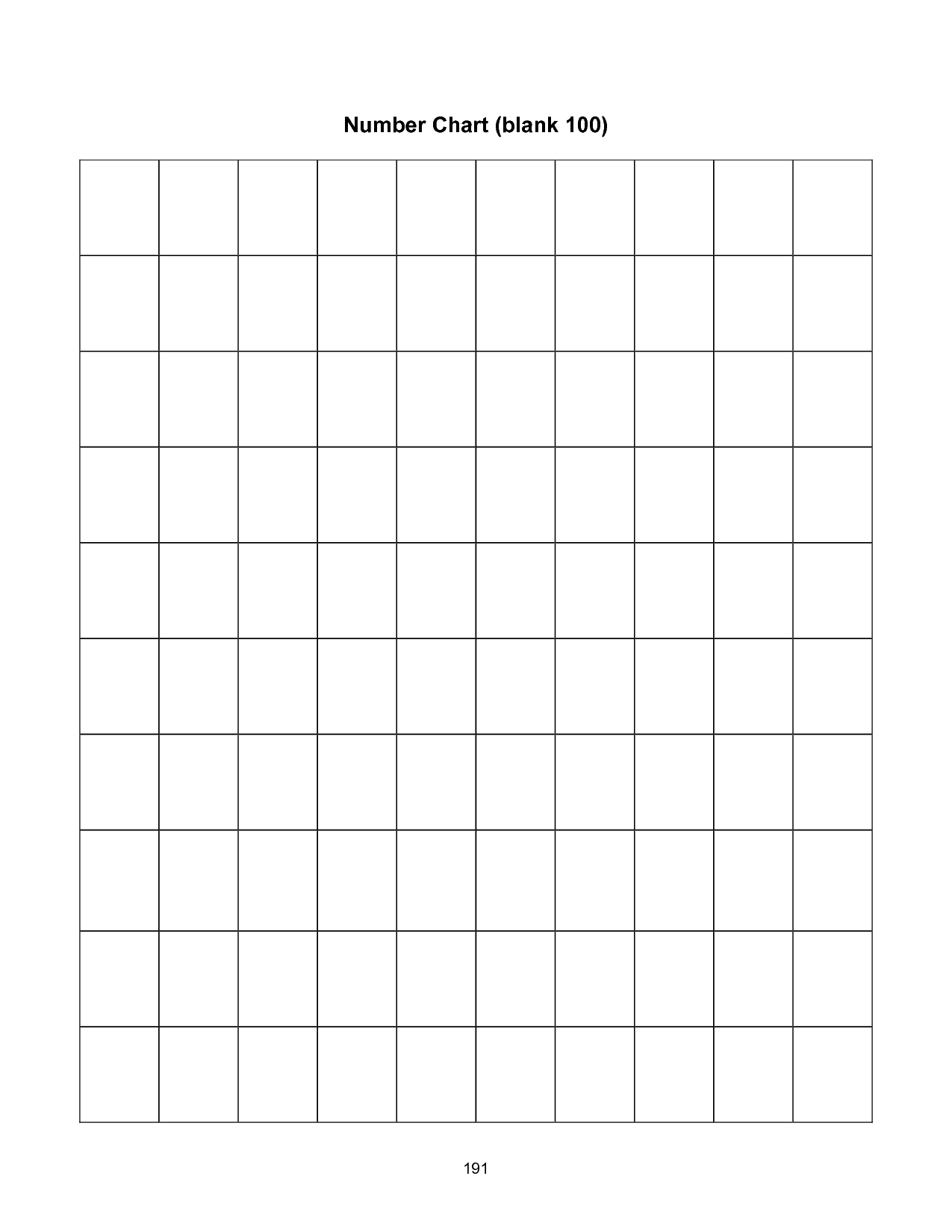 5 Best Images Of Printable Blank Number Grid 1 100