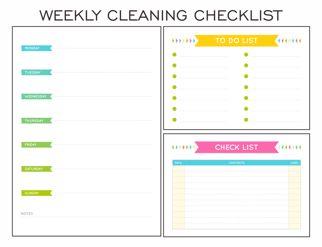 8 Best Images Of Printable Monthly Cleaning Checklist