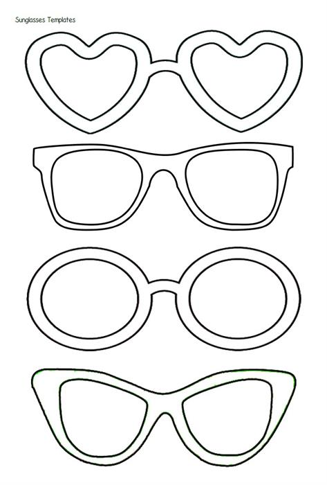 5 Best Images Of Free Printable Heart Shaped Glasses Sun
