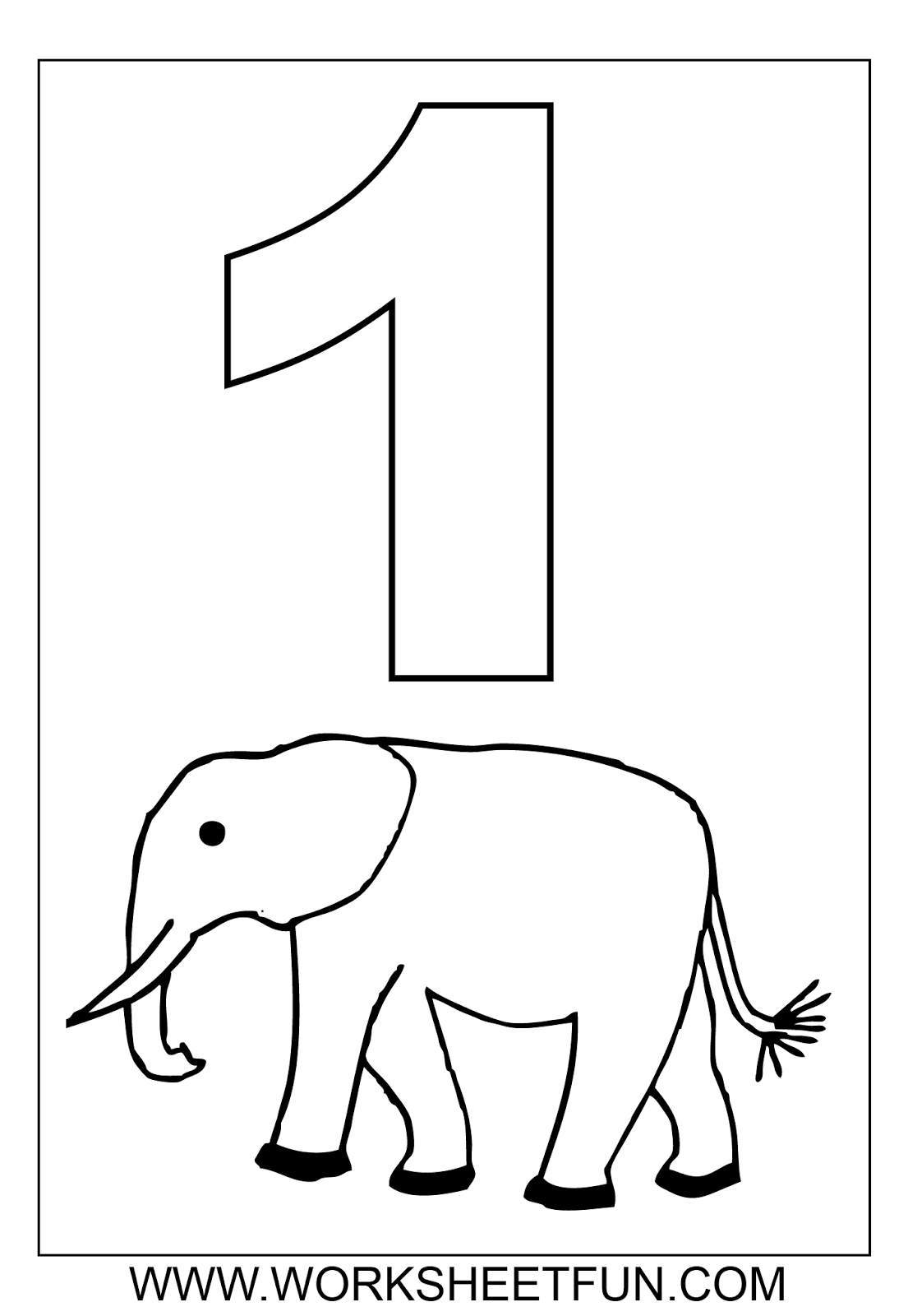 8 Best Images Of Numbers 2 Coloring Printables 1 10
