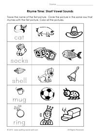 9 Best Images of Printable Rhyming Worksheets For ...