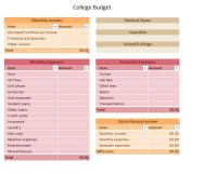 7 Best Images of Student Budget Worksheet Printable