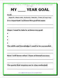 Printables. Career Goal Setting Worksheet ...