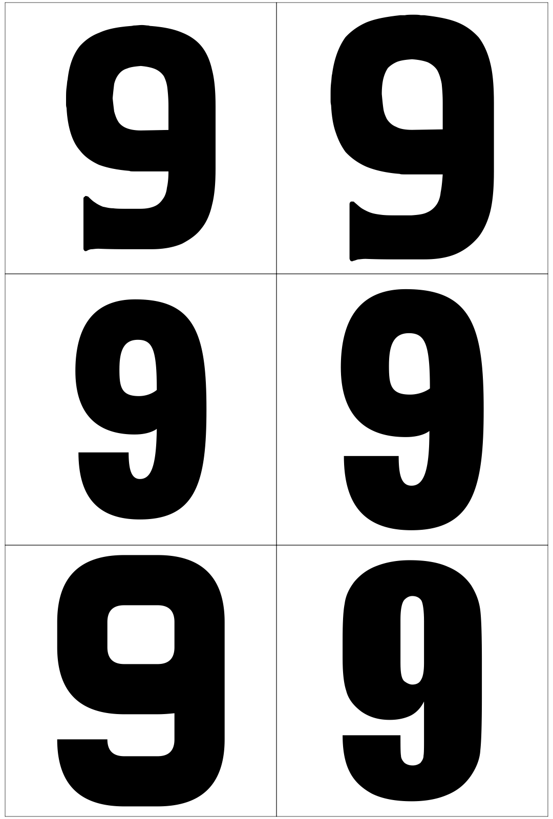 8 Best Images Of Large Printable Numbers 0 9