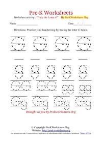 6 Best Images of Letter G Printable Worksheets