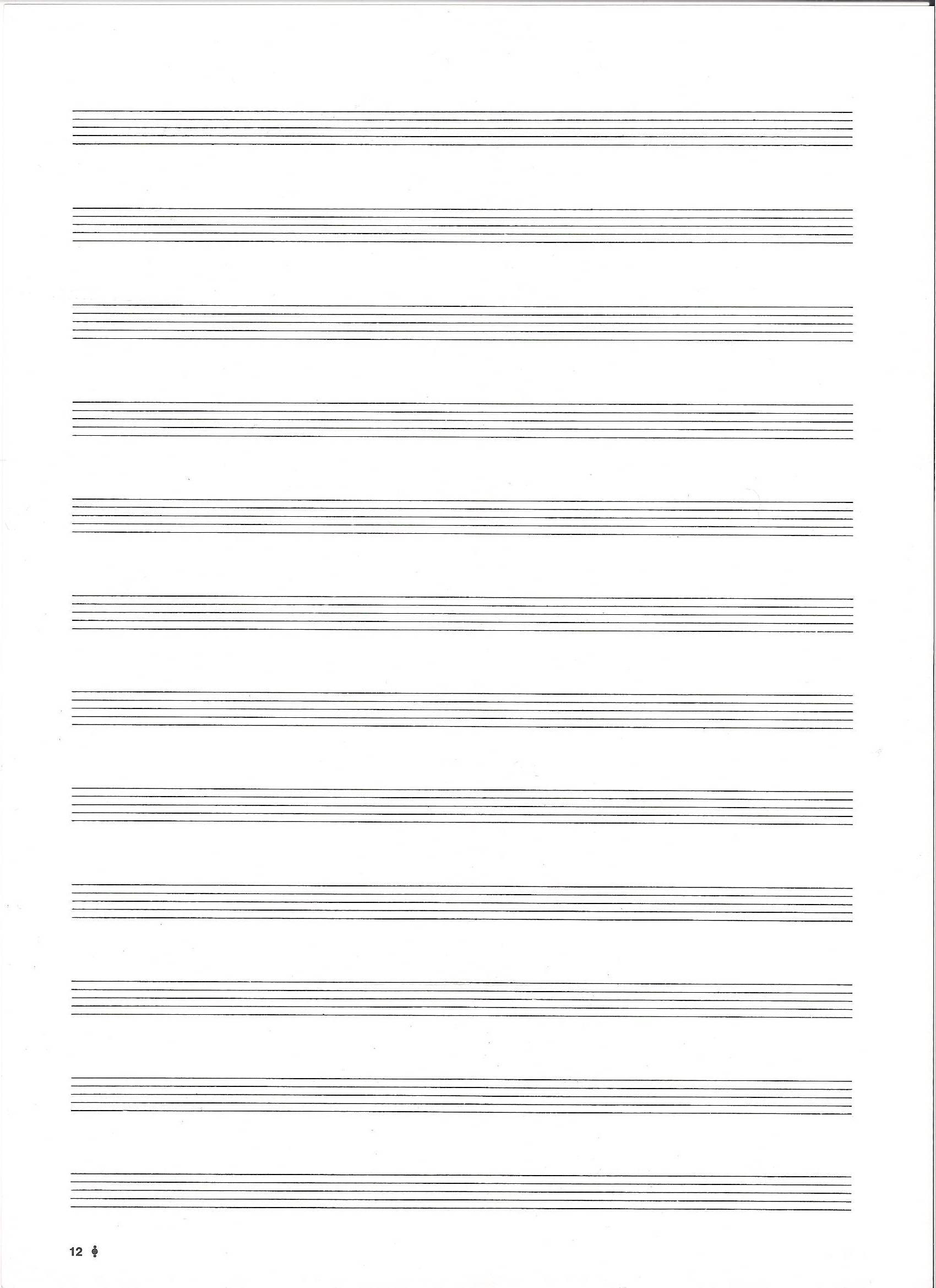 Print Free Sheet Music Blank