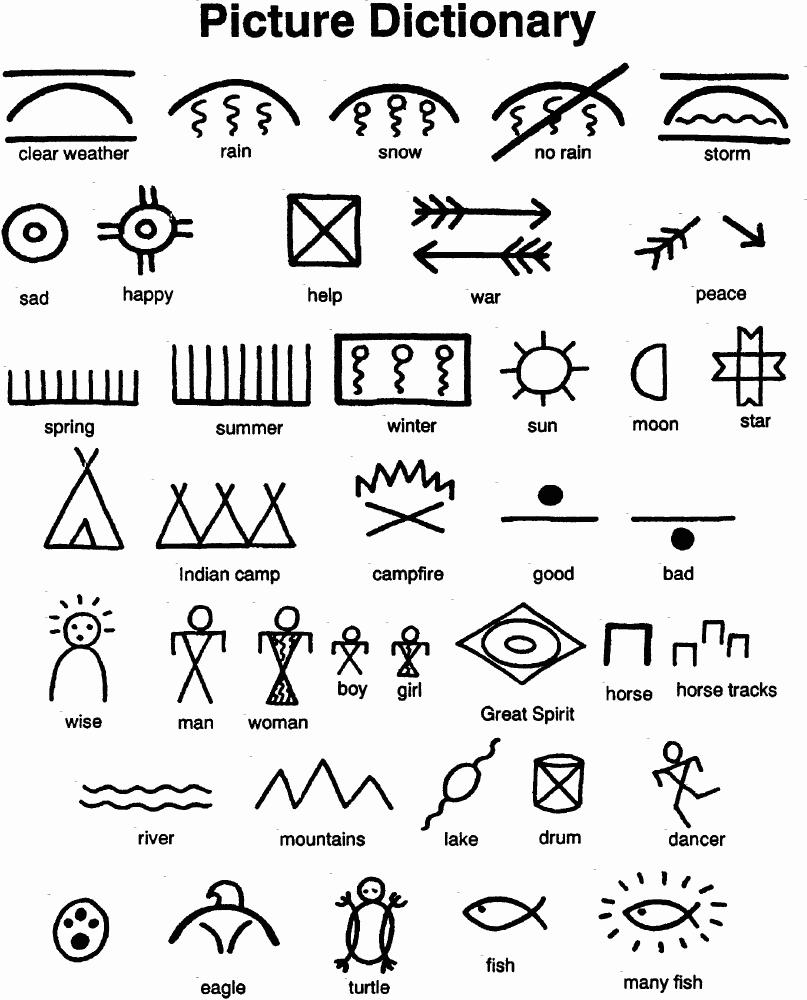 5 Best Images of Printable Native American Symbols