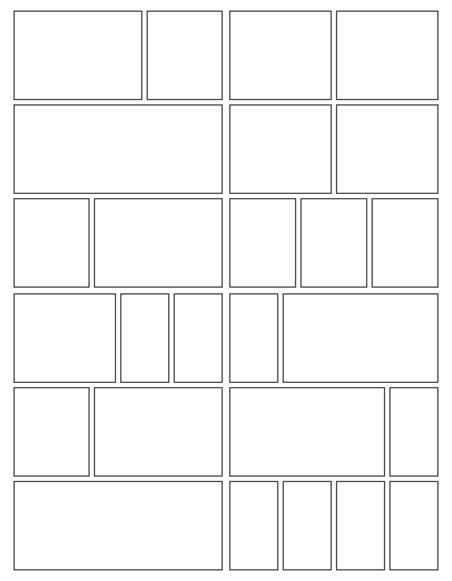 7 Best Images Of Comic Book Panels Printable