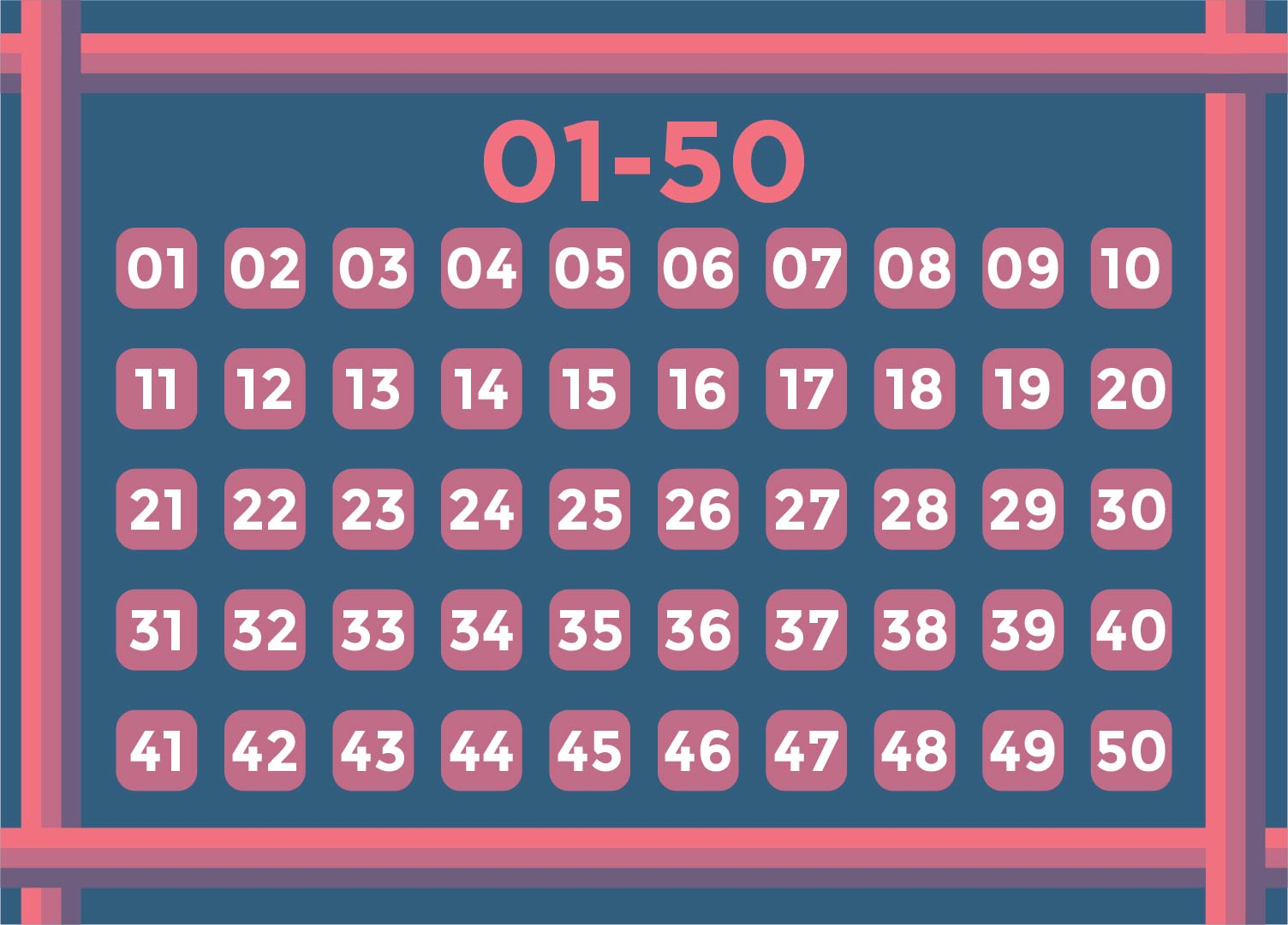 9 Best Images Of Printable Numbers 1 50