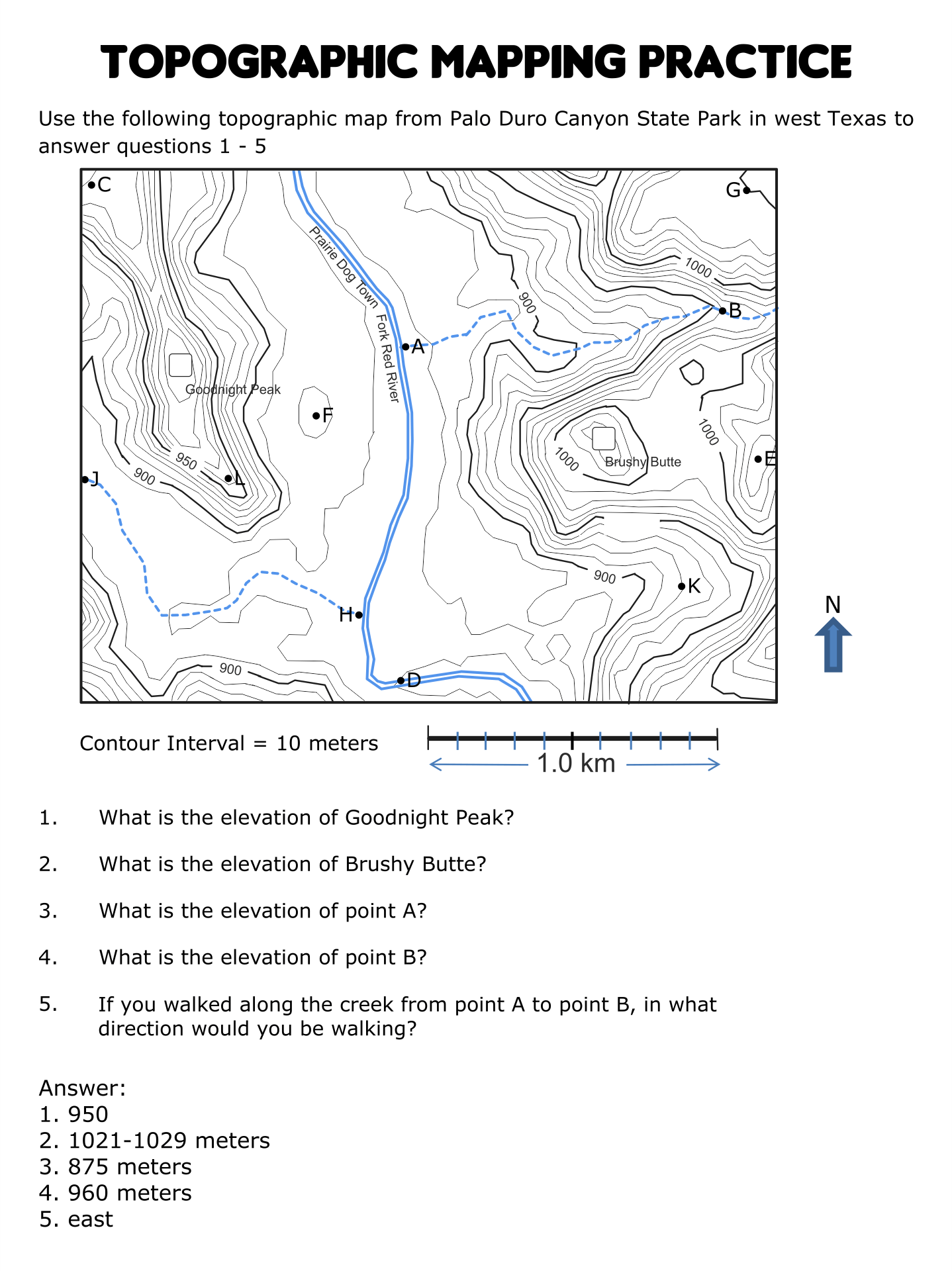 worksheet how to read a topographic map worksheet worksheet fun worksheet study site. Black Bedroom Furniture Sets. Home Design Ideas