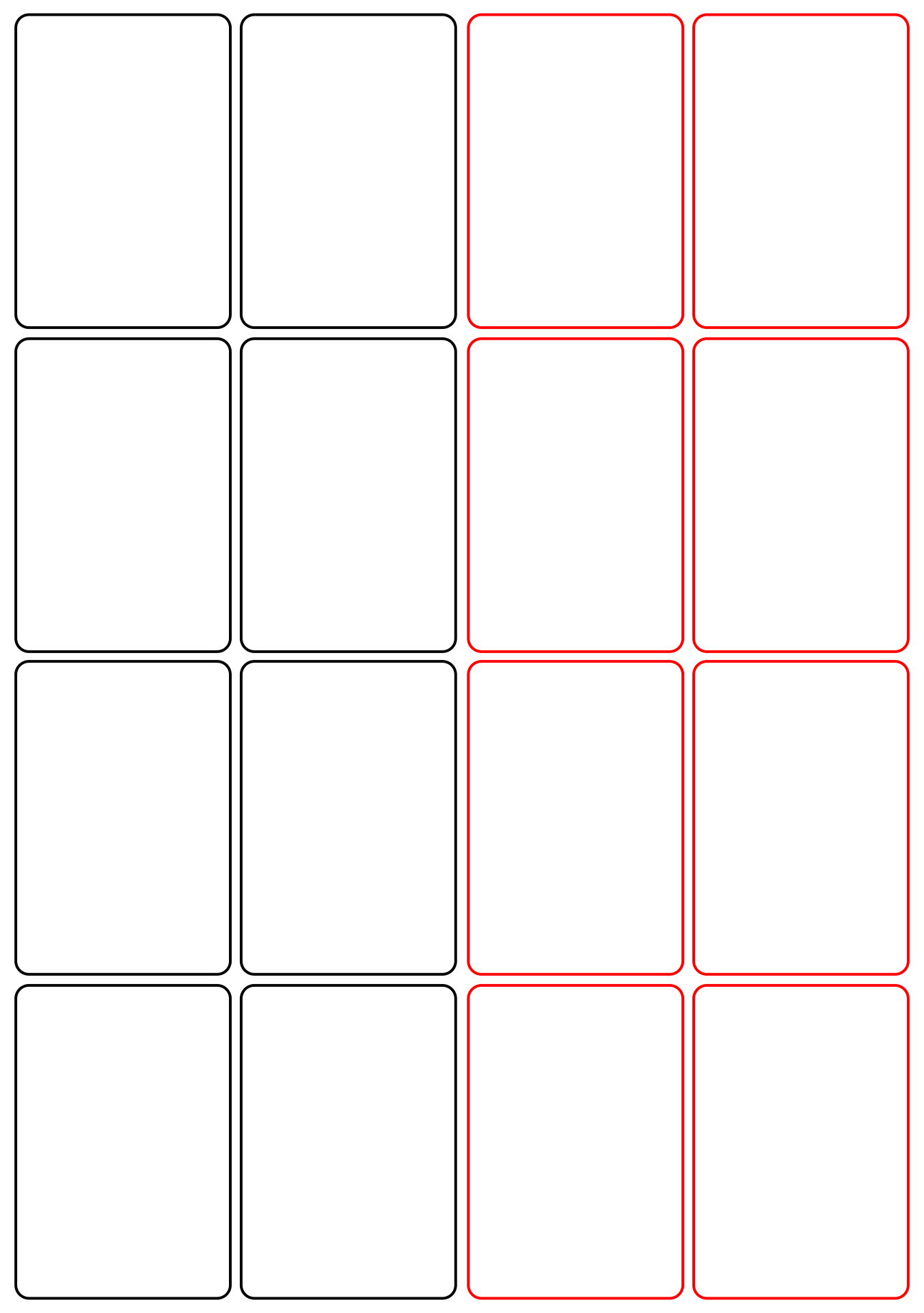 8 Best Images of Blank Playing Card Printable Template For