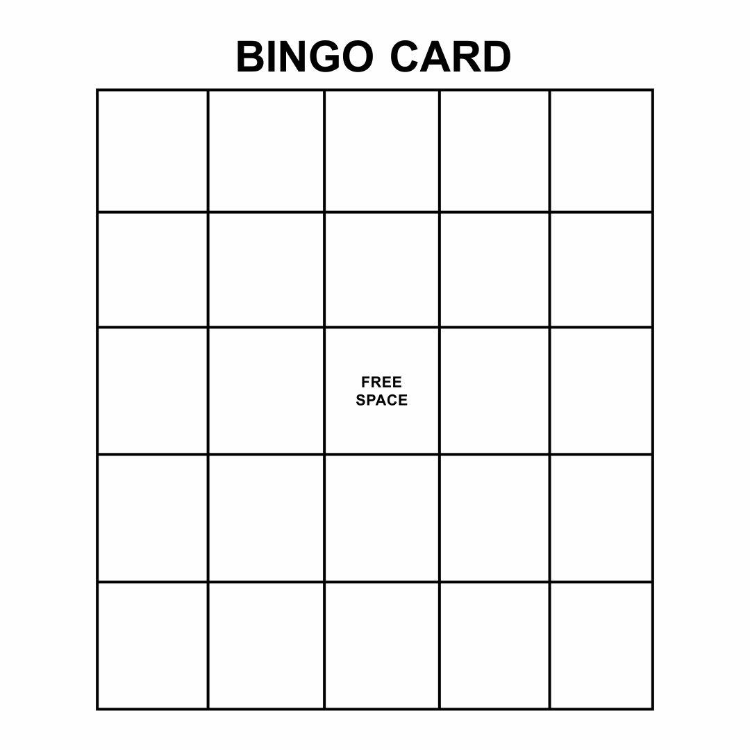 8 Best Images Of Custom Bingo Card Printable Template
