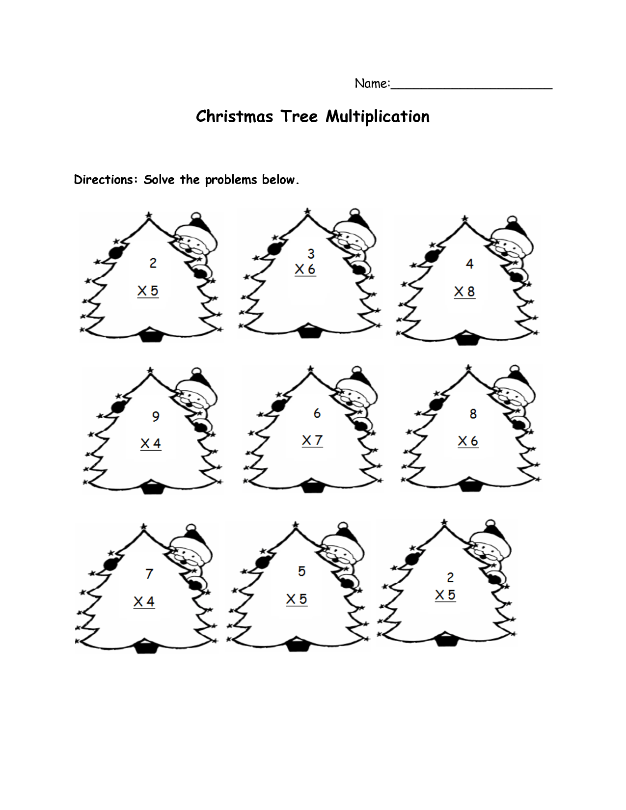 5 Best Images Of Simple Page Printable Christmas Math