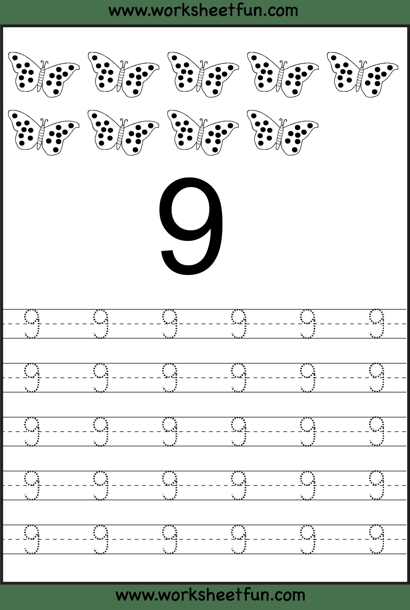 7 Best Images Of 9 Free Printable Number Worksheets