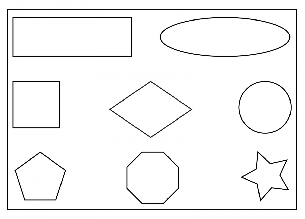 Identify Shapes Preschool Worksheet