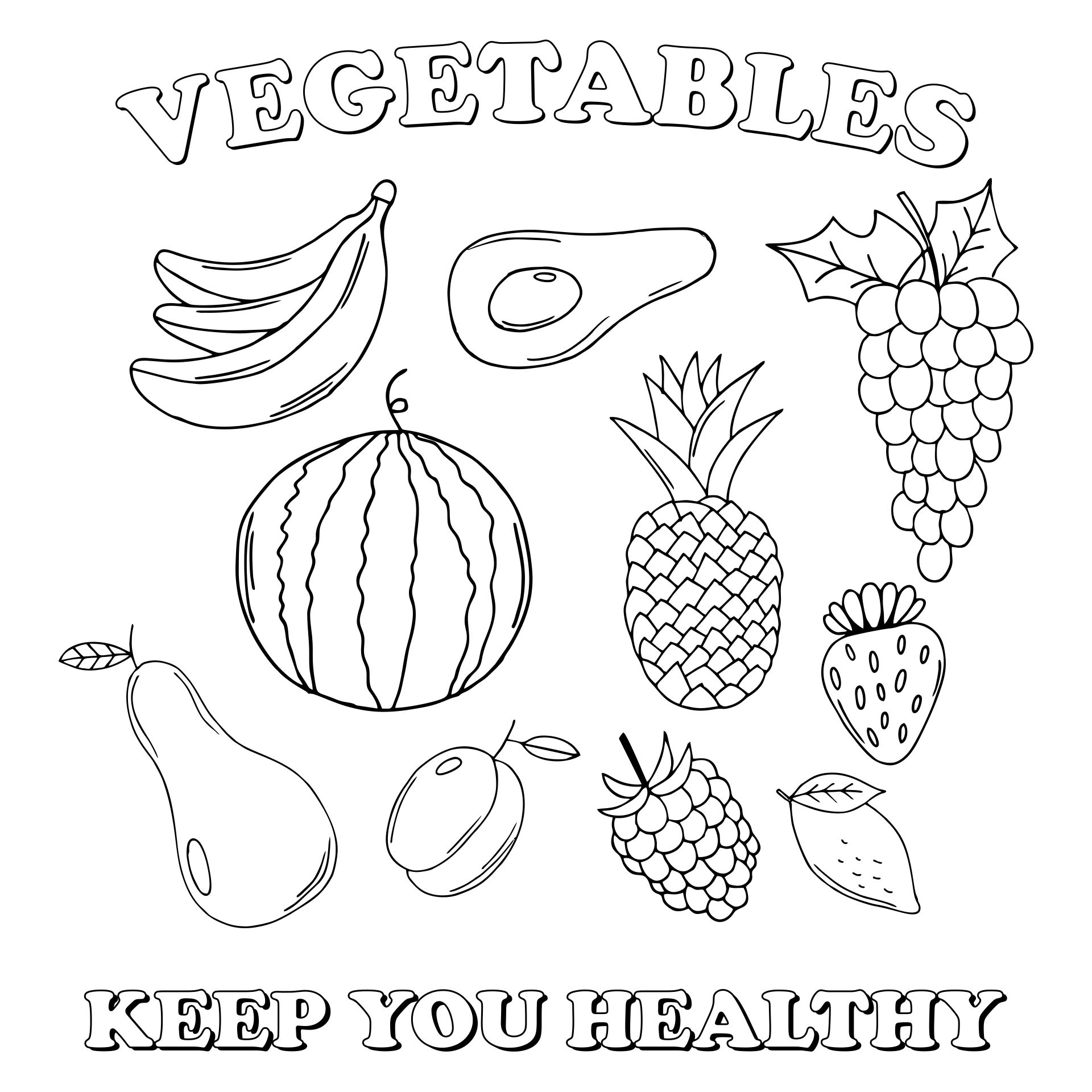 4 Best Free Printable Fruit And Vegetable Templates