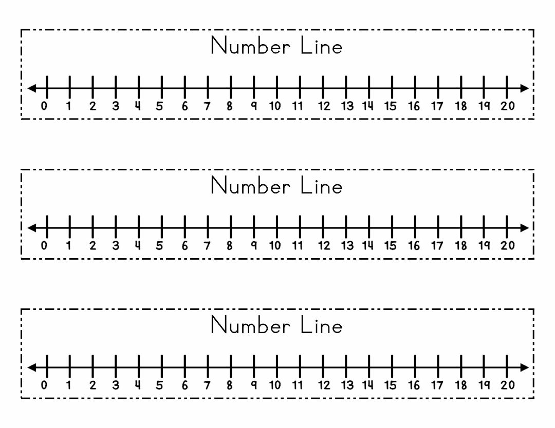 8 Best Large Printable Number Line To 20