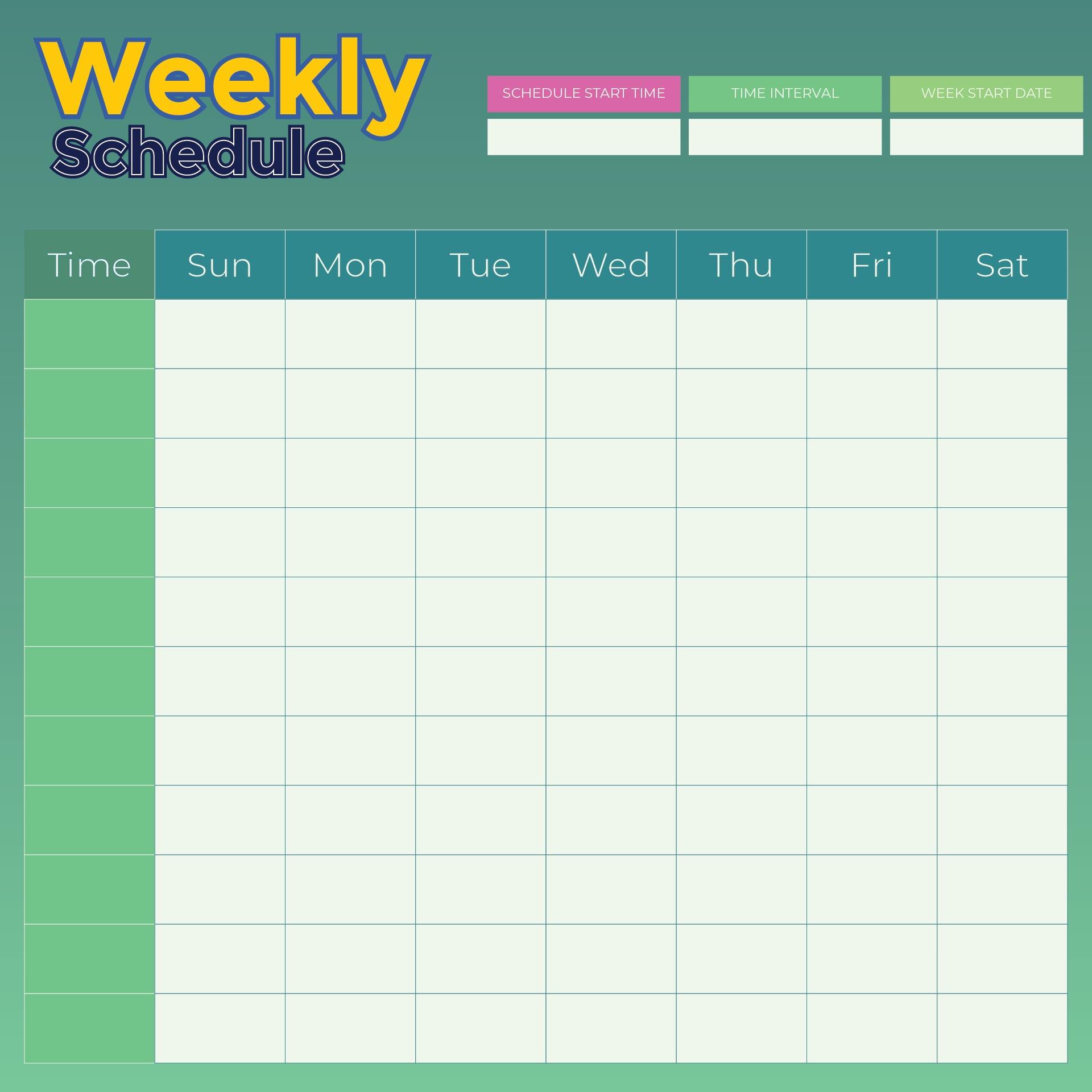 9 Best Images Of Weekly Planner Printable
