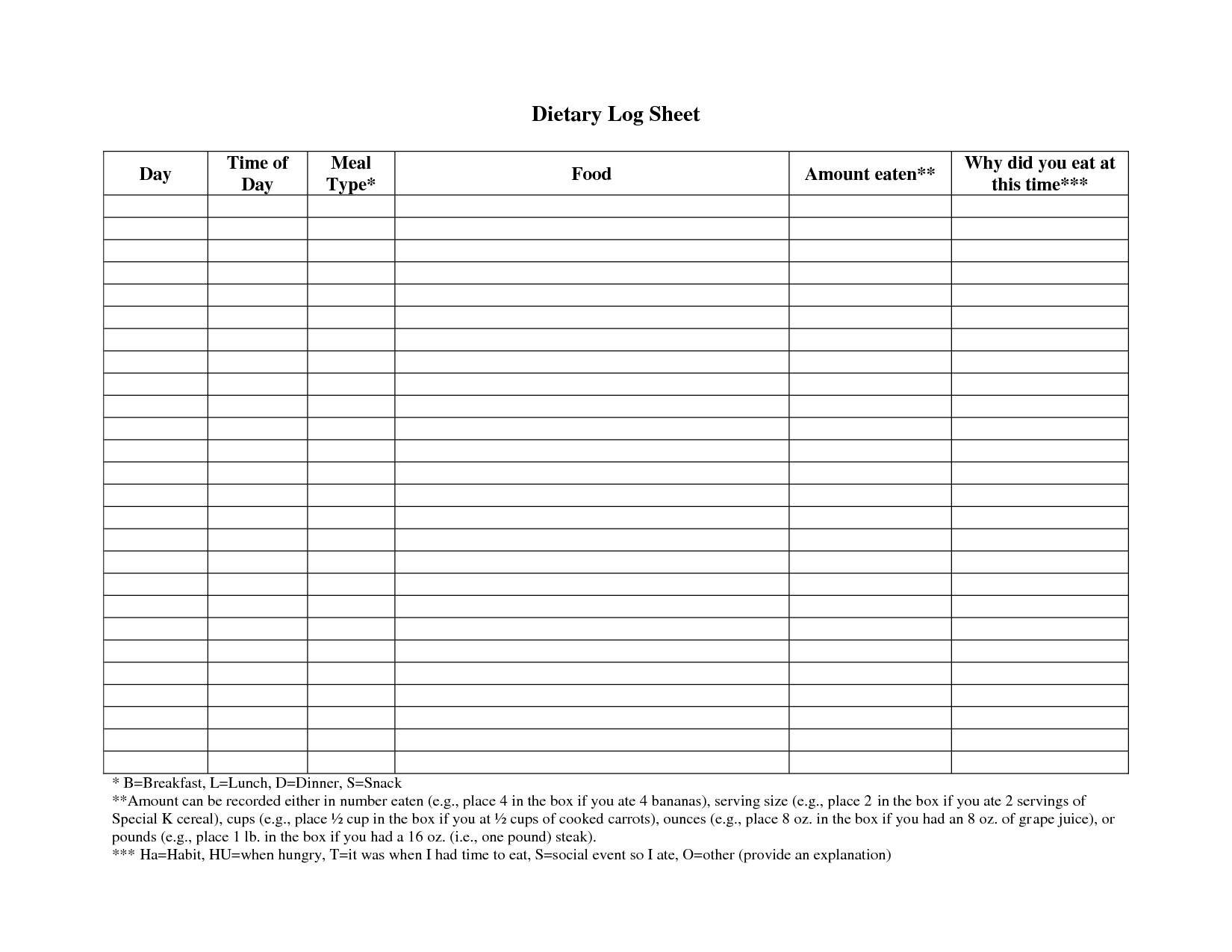 6 Best Images Of Weight Loss Log Sheet Printable
