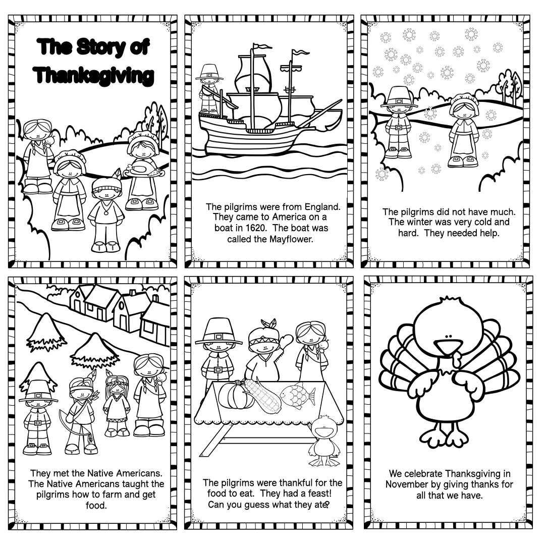 6 Best Images Of Thanksgiving Story Printable
