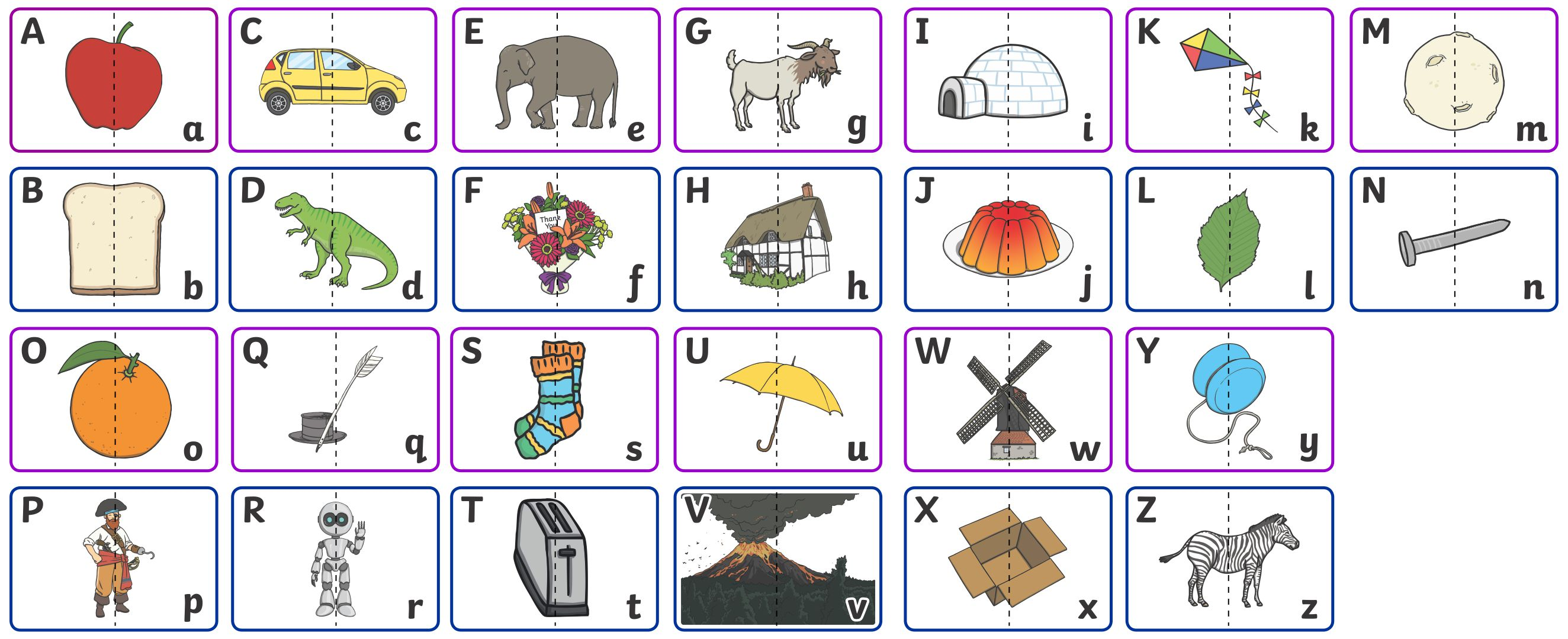 7 Best Alphabet Matching Printable Worksheets