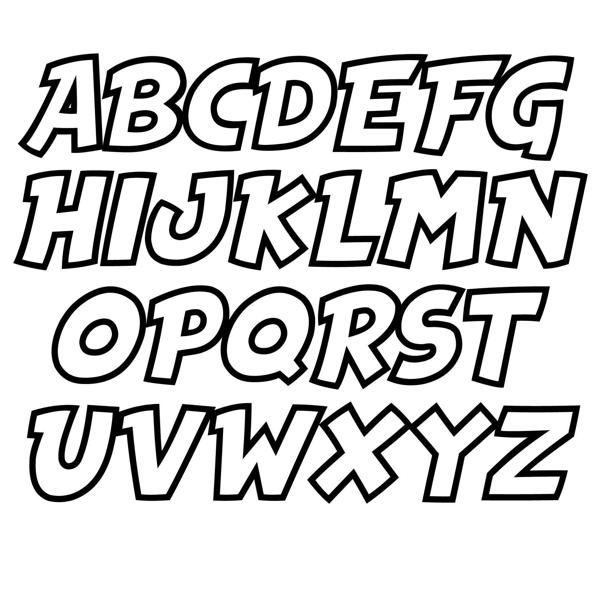 6 Best Printable Block Letters Small Medium Printablee Com