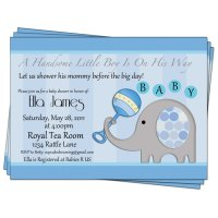 7 Best Images of Elephant Baby Shower Free Printable