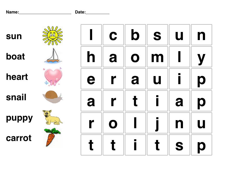6 Best Images Of Printable Word Games For Kindergarten