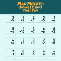 7 Best Images of Printable Math Addition Drill 13 - Mad ...