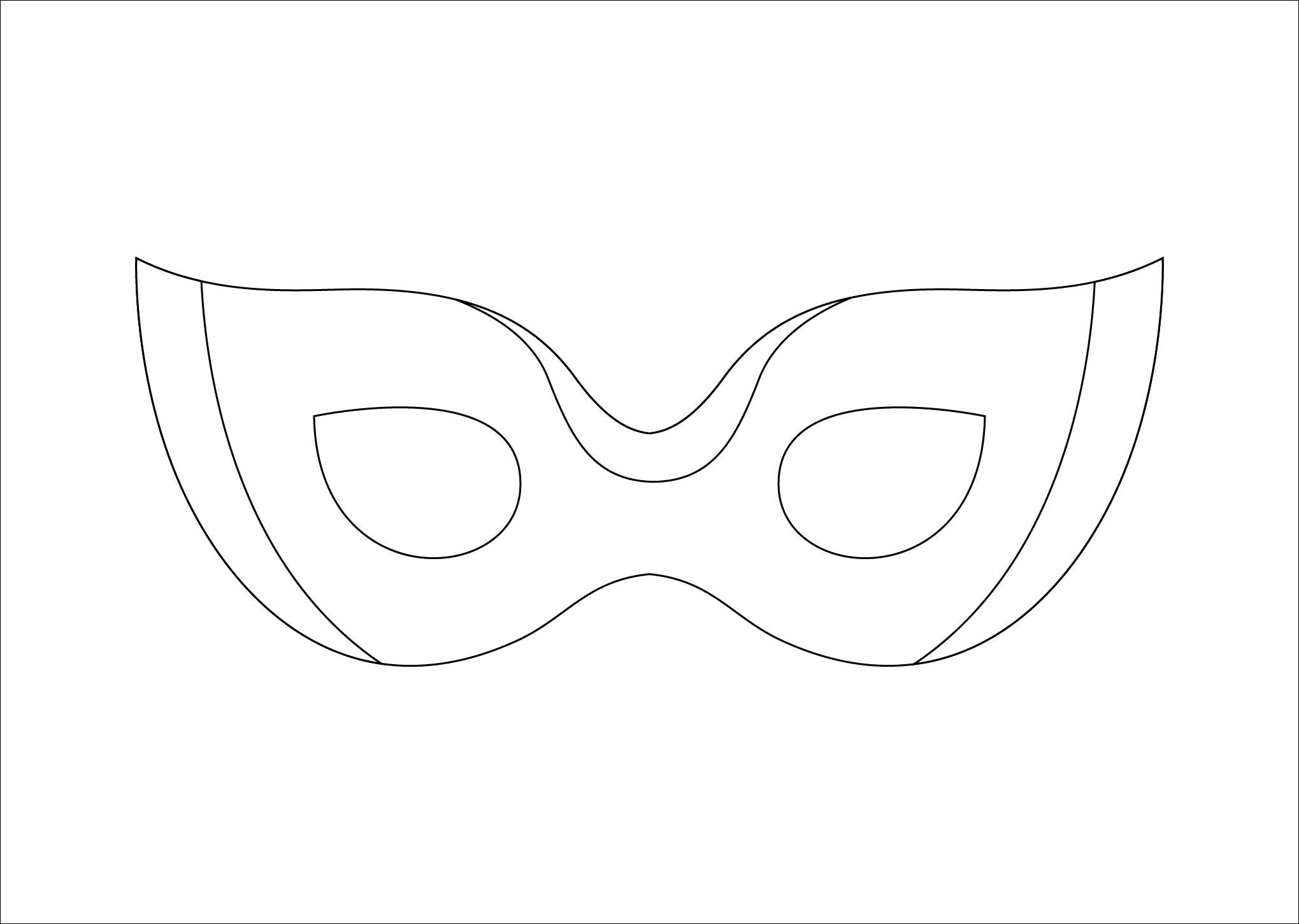 Venetian masquerade masks template the for Masquerade ball masks templates