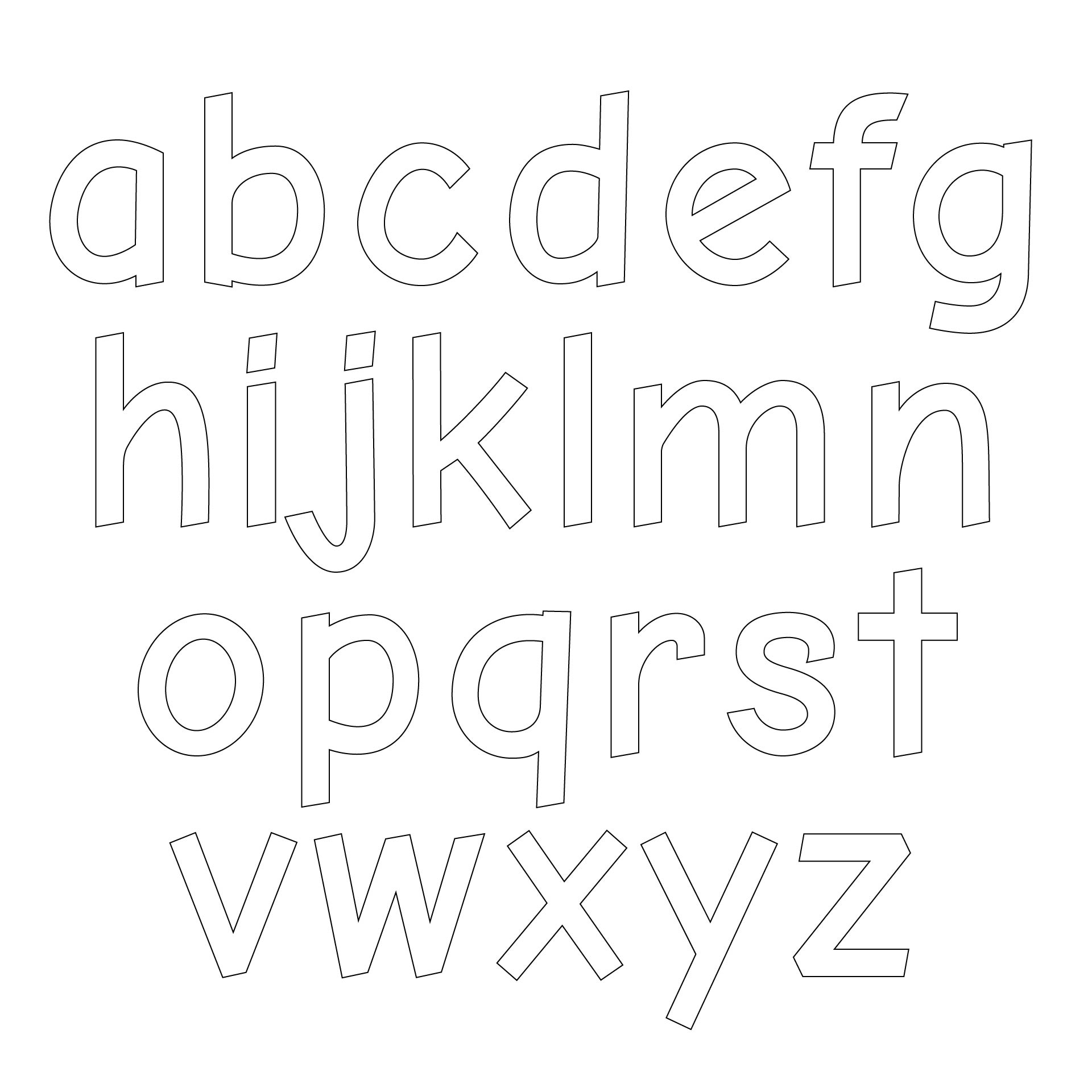 6 Best Images of Printable Block Letters Small Medium