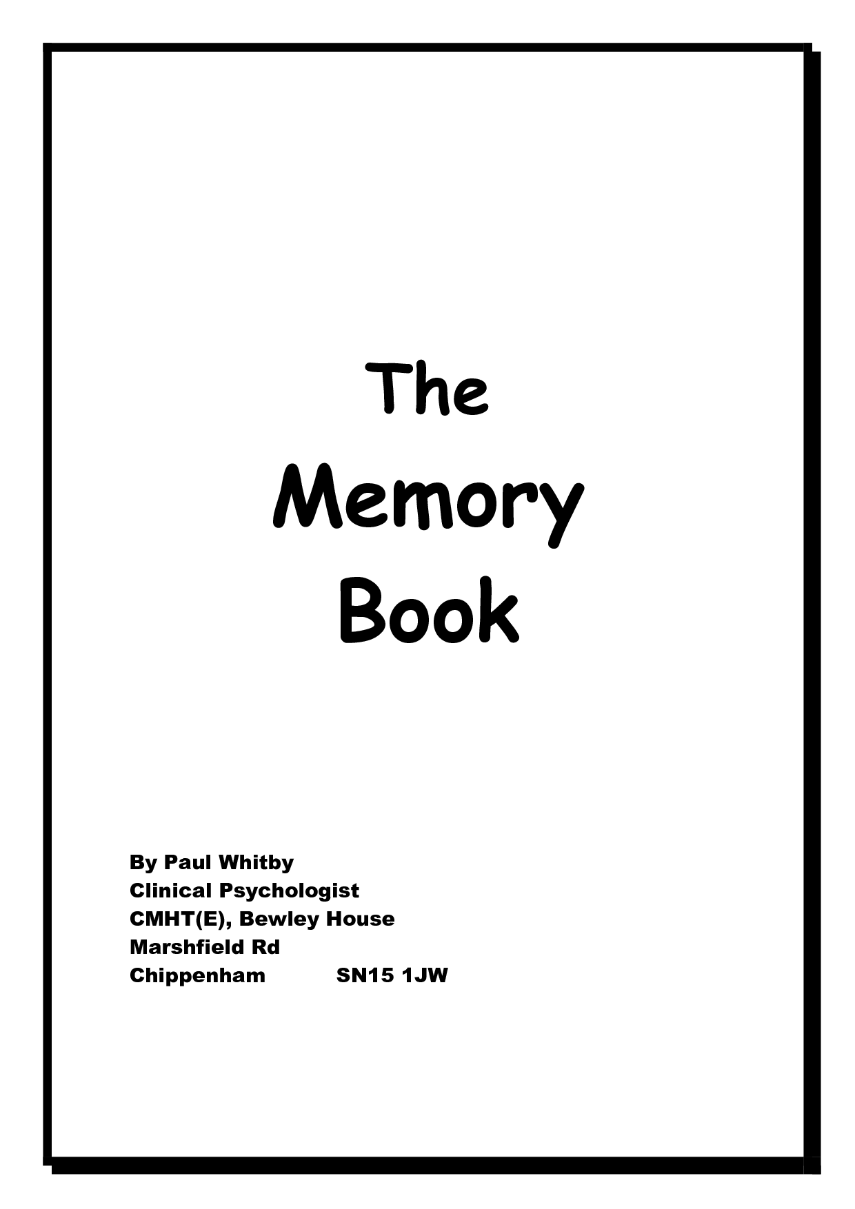 7 Best Images of Dementia Memory Book Printable Pages