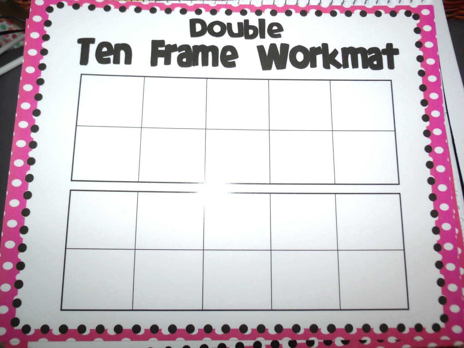 6 Best Images Of Printable Ten Frame Mat