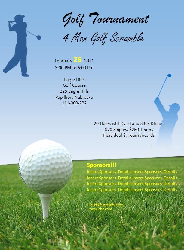 Flyer Golf Template Word Microsoft