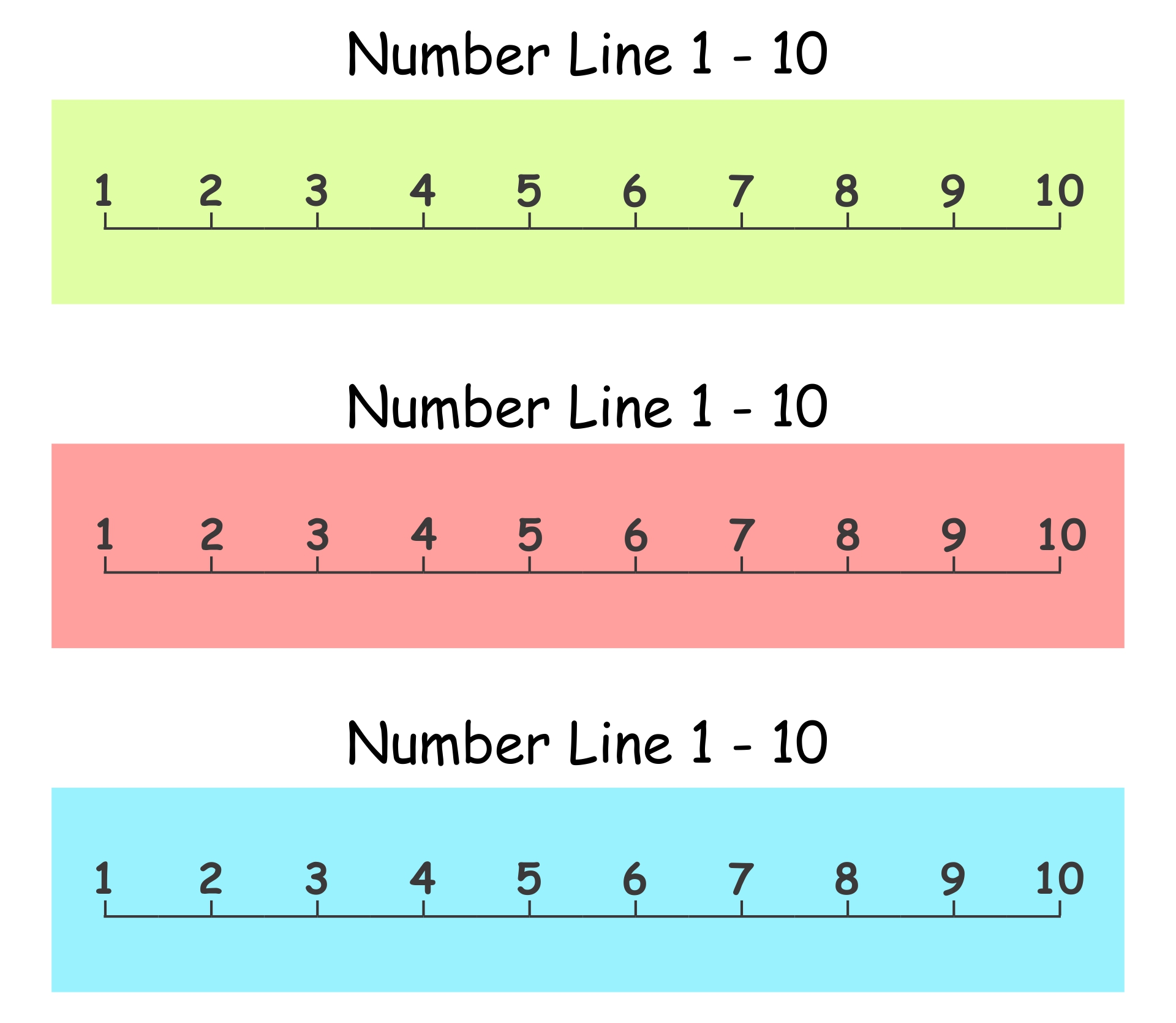 6 Best Images Of Printable Number Line 1 10